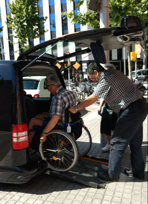 wheelchair accessible transfer barcelona airport