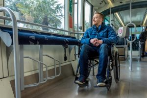 wheelchair accessible tram in Barcelona for disabled travelers